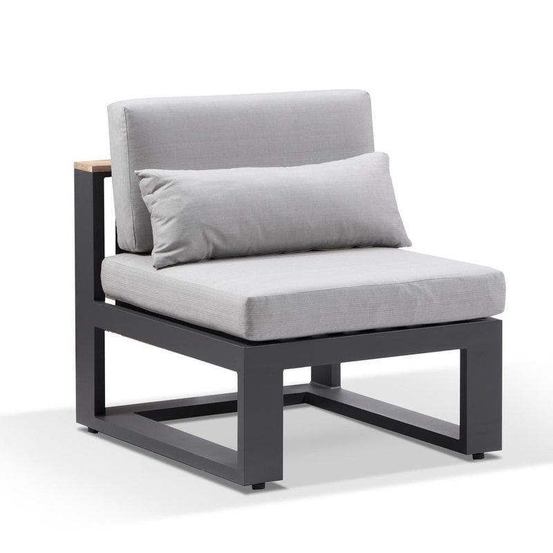 Balmoral Single Modular Outdoor Aluminium and Teak Lounge