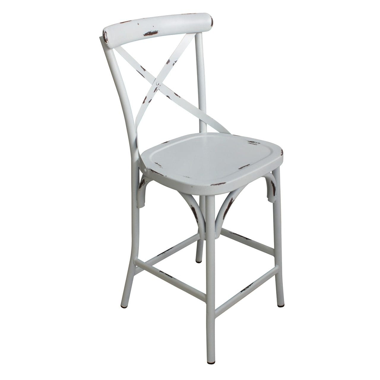 Phenomenal Outdoor French Provincial Cross Back Bar Stool Shabby Chic Machost Co Dining Chair Design Ideas Machostcouk