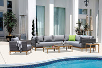 Honolulu Modular Outdoor Lounge and Table setting
