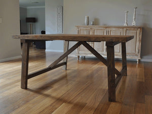 Rustic Industrial 1.5m Square Table