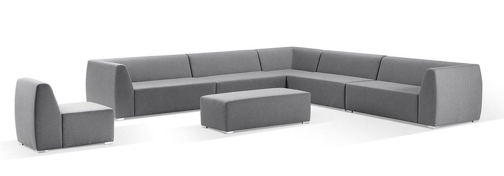 Titan Large Outdoor Modular Lounge in Sunbrella Fabric