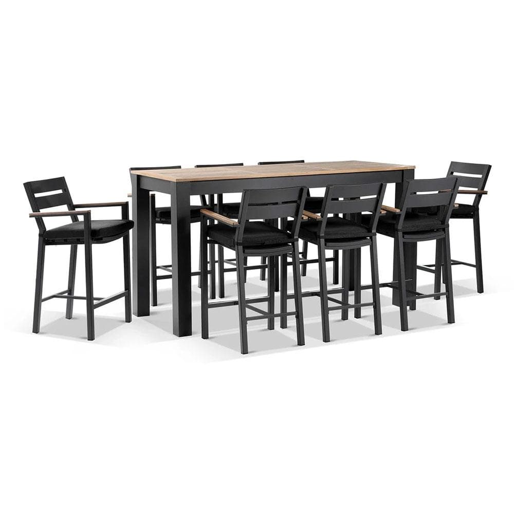 Balmoral 2m Bar Table with 8 Capri Bar stools