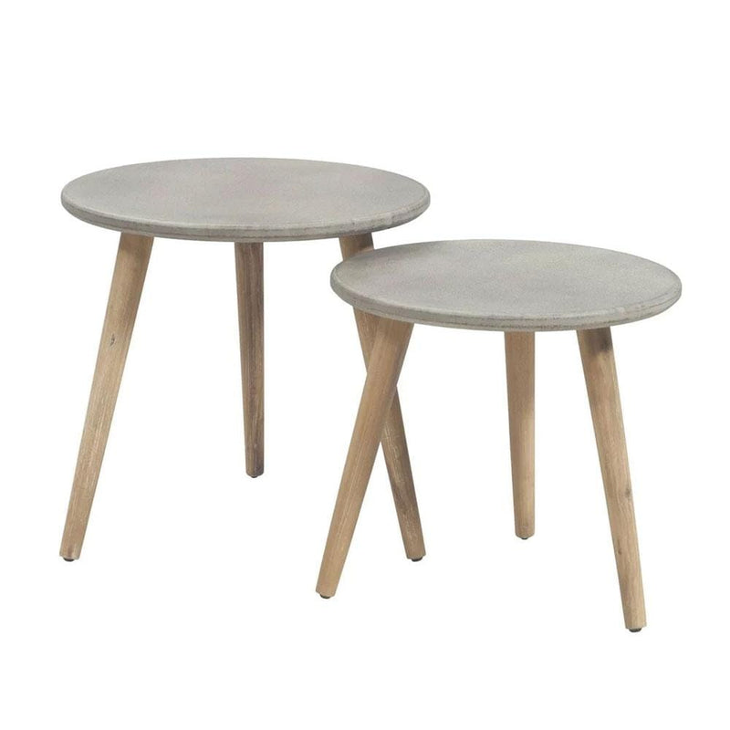 Ellie Round Poly-Cement Table Set