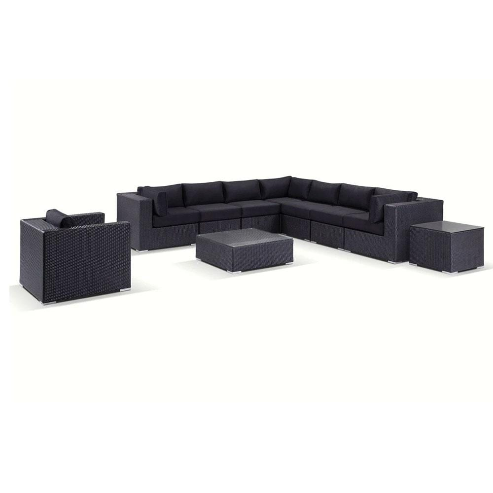 Big Kahuna - Huge 10pc Wicker Outdoor Modular Corner Sofa