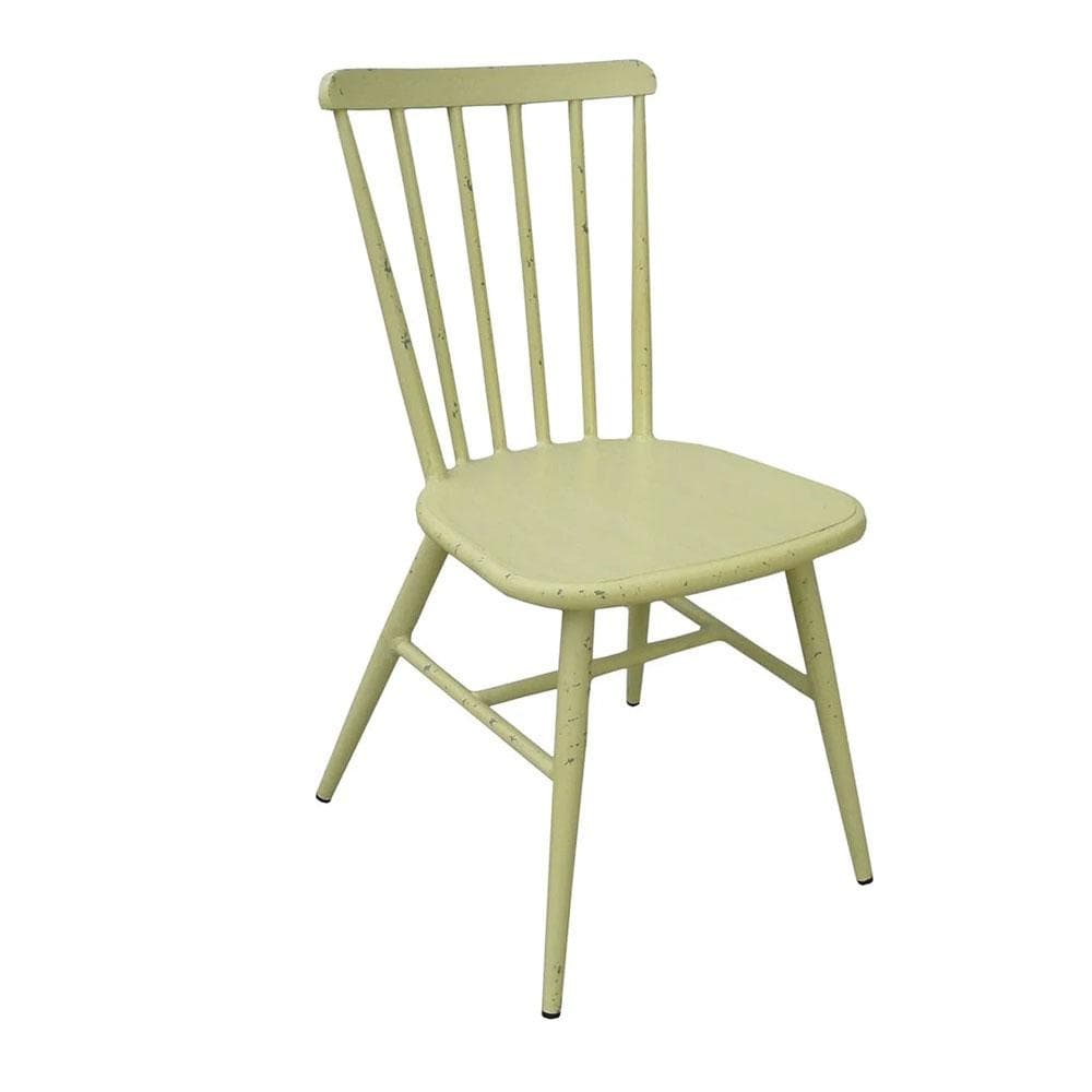 Replica Windsor Stackable Outdoor Dining Chair in Antique Yellow