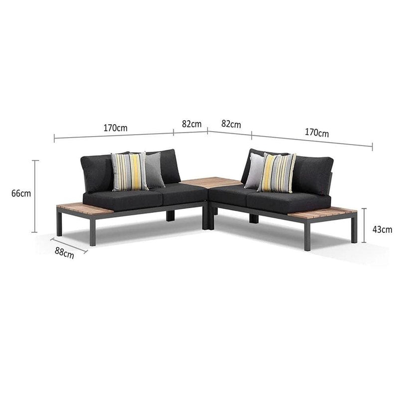 Nova Package B - Outdoor Aluminium Modular Corner Lounge