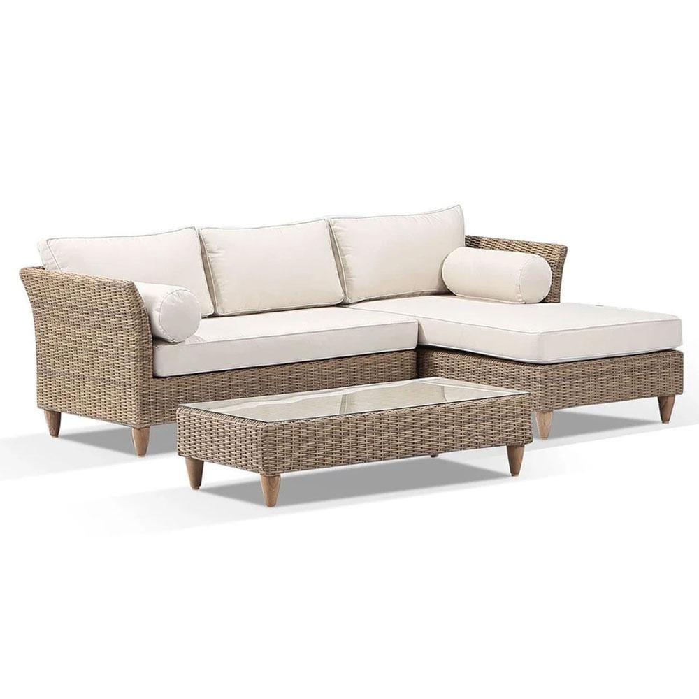 Carolina Outdoor Chaise Lounge with Coffee Table