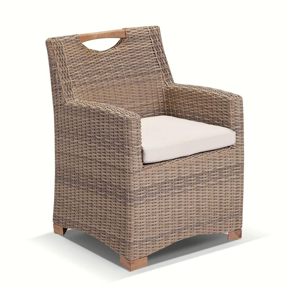 Freedom Chair in Half Round Breshed Wheat Wicker