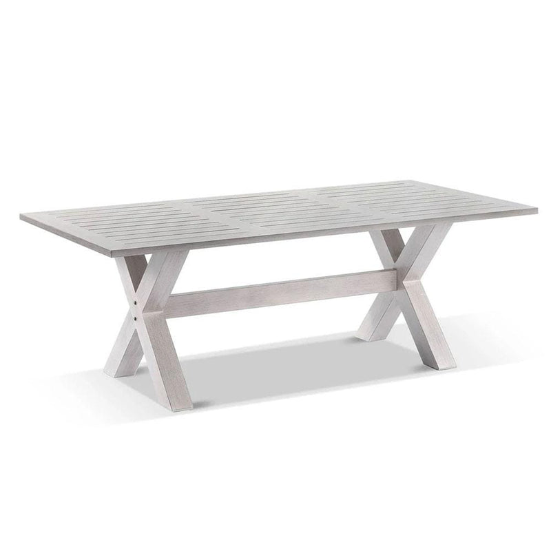 Aged Teak look Tahitian 2.1m Aluminium Dining Table