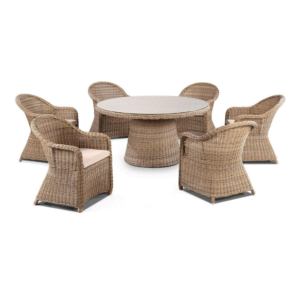 Plantation 6 Seater Dining Setting
