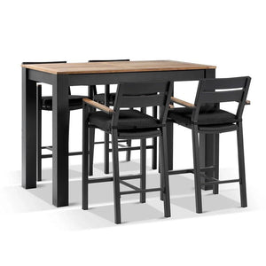 Balmoral 1.5m Aluminium Bar Table with 4 Capri Bar stools