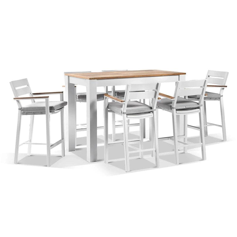 Balmoral 1.5m Aluminium Bar Table with 6 Capri Bar stools