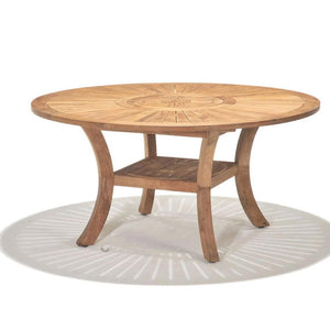 Solomon 1.5 Round Teak  Timber Outdoor Dining Table
