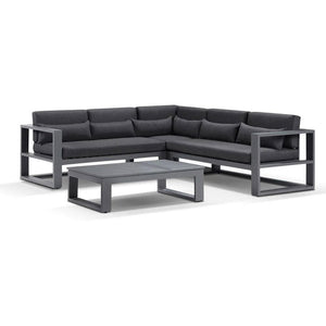 Santorini Package A in Charcoal with Denim Grey cushions