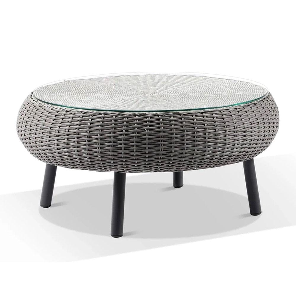 Plantation Hamptons Outdoor Round Wicker Coffee Table