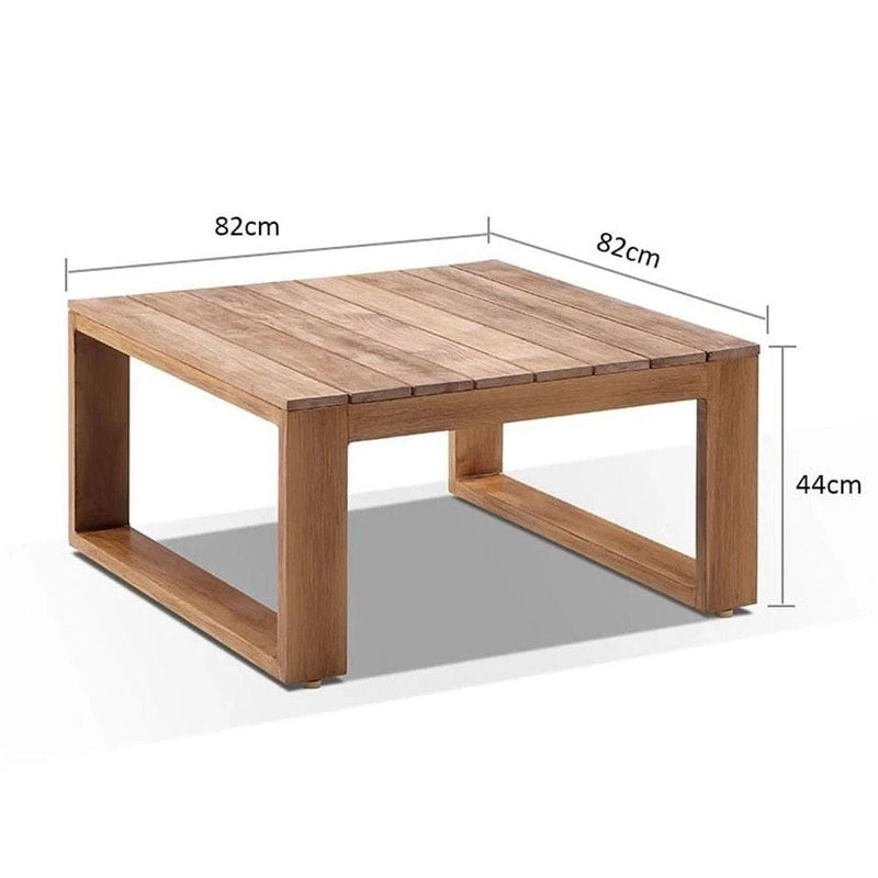 Square Teak Top Aluminium Coffee table