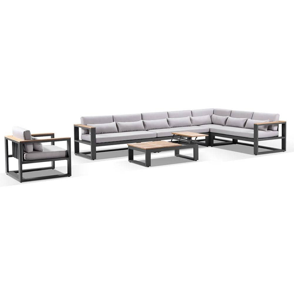 Balmoral package D - Outdoor Aluminium and Teak Lounge with Coffee Table