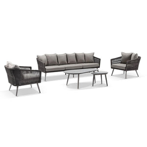 Herman Outdoor 3+1+1 Rope Lounge with Coffee table Set