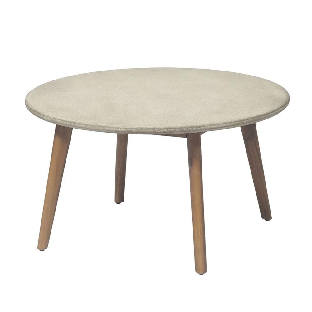 Ellie Round Poly-Cement Coffee Table