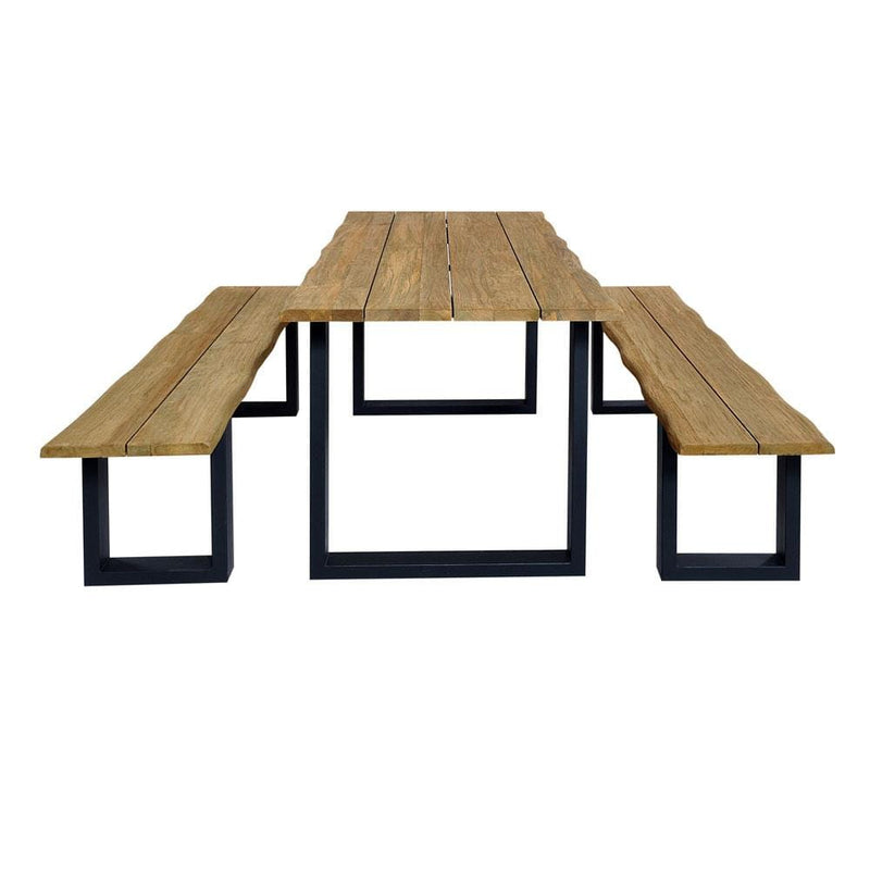 Santai 1.8m with Bench Seats Outdoor Teak Timber and Dining Table