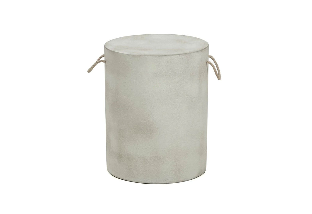 Evie Round Poly Cement Stool