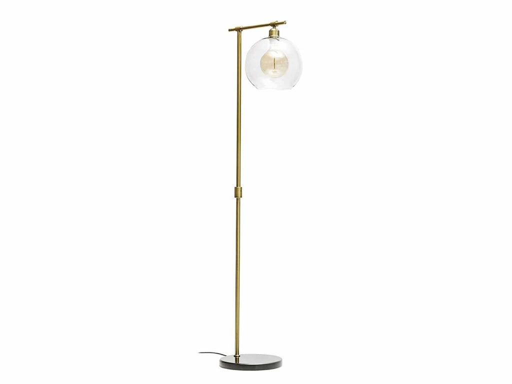 Archer Glass Shade Floor Lamp Homeware