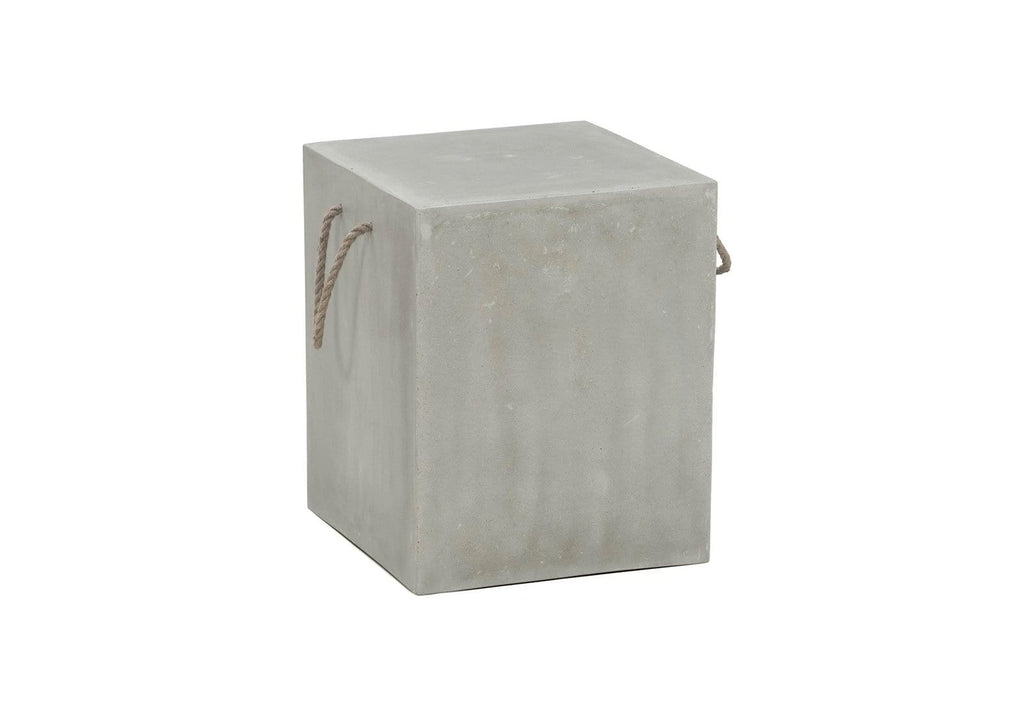 Leo Square Poly Cement Stool