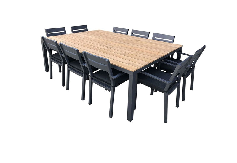 Tuscany 10 Seat with Capri chairs in Charcoal