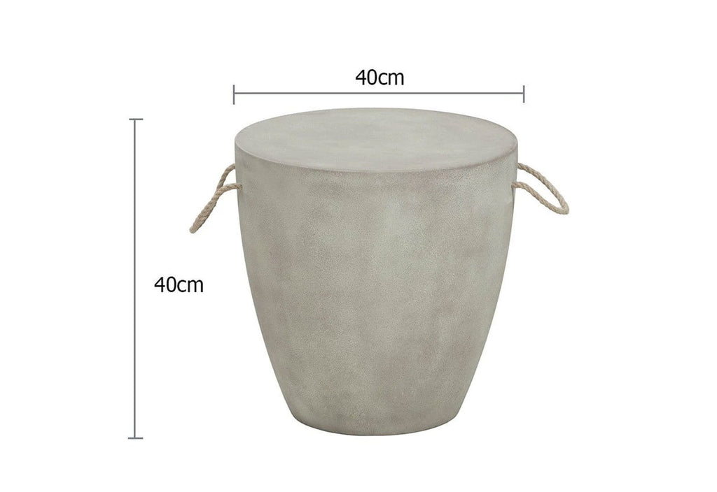 Ava Poly Cement Stool