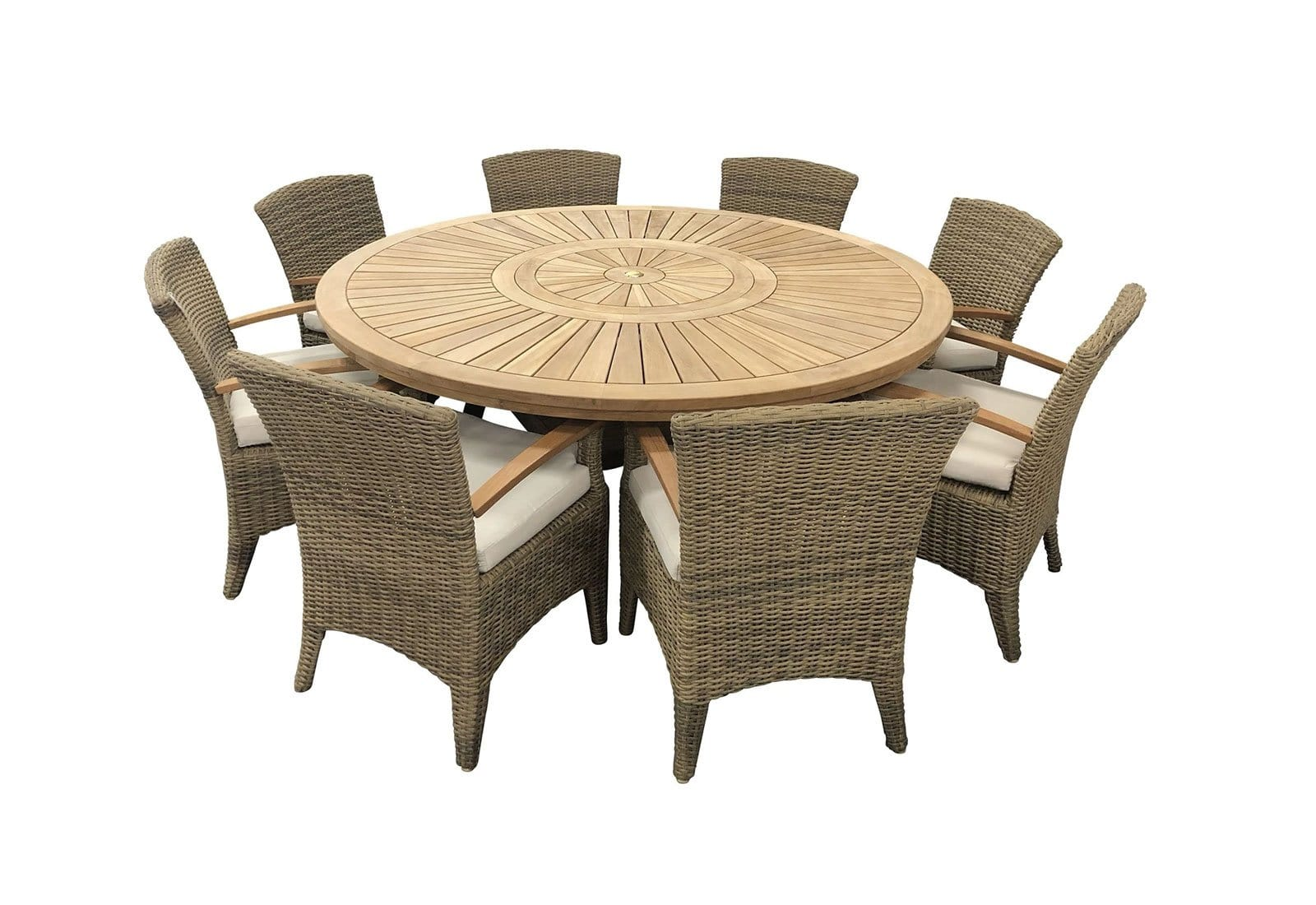 Superb Solomon 1 8M Round Outdoor Teak Timber Dining Table With Kai Gamerscity Chair Design For Home Gamerscityorg