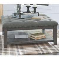 Tenelle Indoor Fabric Ottoman & Coffee Table