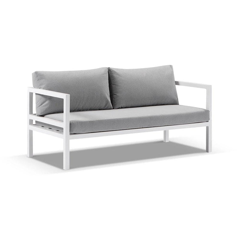 Cuba Outdoor Aluminium 2+1+1 Lounge Set with Coffee Table