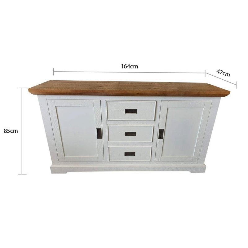 Hamptons Rustic Timber Sideboard Buffet Cabinet