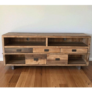 Rustic Industrial TV Entertainment Unit