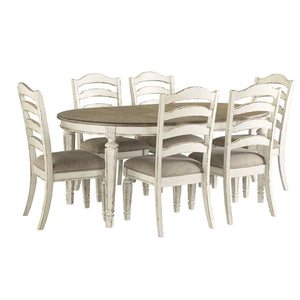 Juliet Oval Extension Indoor Timber Dining Table and Chairs 4-6 Seater Setting