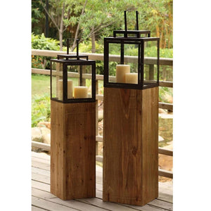 Cypress Candle Lantern Set