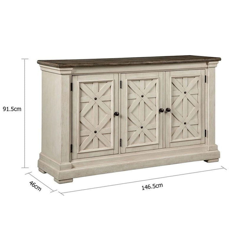 Sofia Timber Indoor Antique White Buffet Sideboard Server