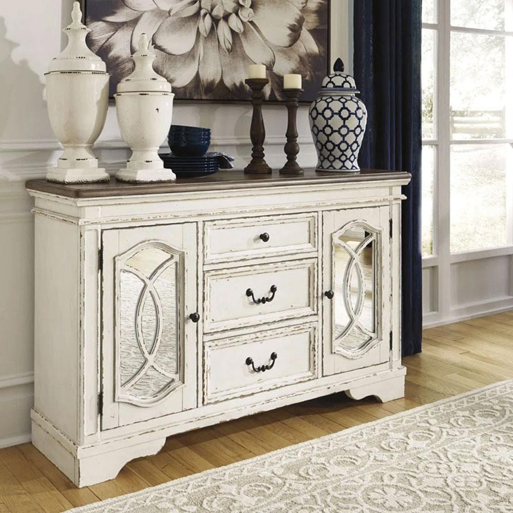 Realyn Indoor Timber Buffet Sideboard in Distressed White
