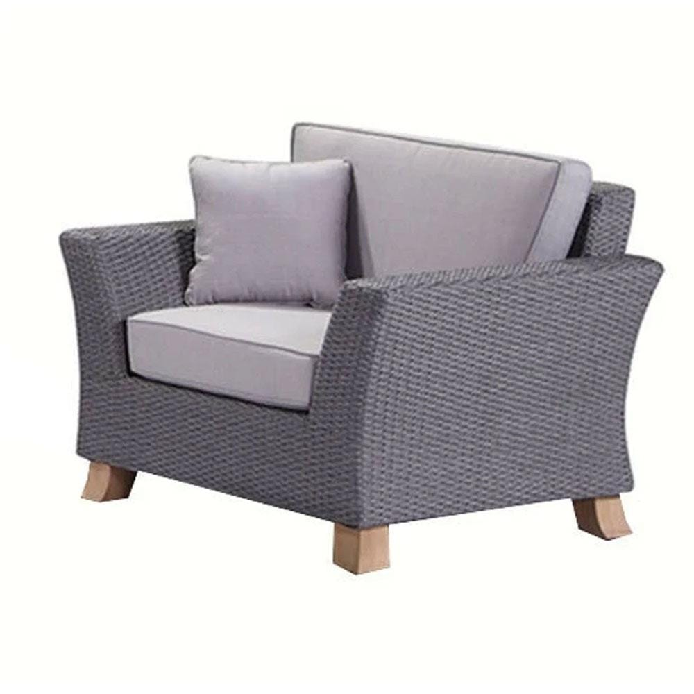 Malibu 3+1+1 Seater Outdoor Lounge with Coffee Table Olefin Grey