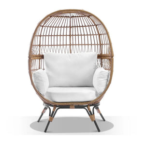 Pacific Outdoor Wicker Egg Chair with Legs