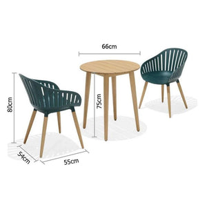 Marina Outdoor Lifestyle Garden Recycled Plastic Patio Chairs & Table Setting