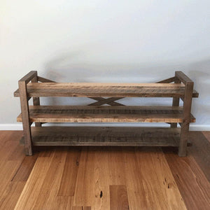 Rustic Industrial Trestle TV Unit