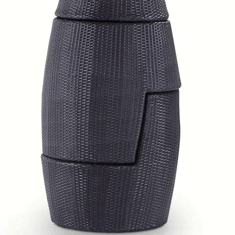Indo Vase - 3pc Stackable Wicker Patio Set in Charcoal