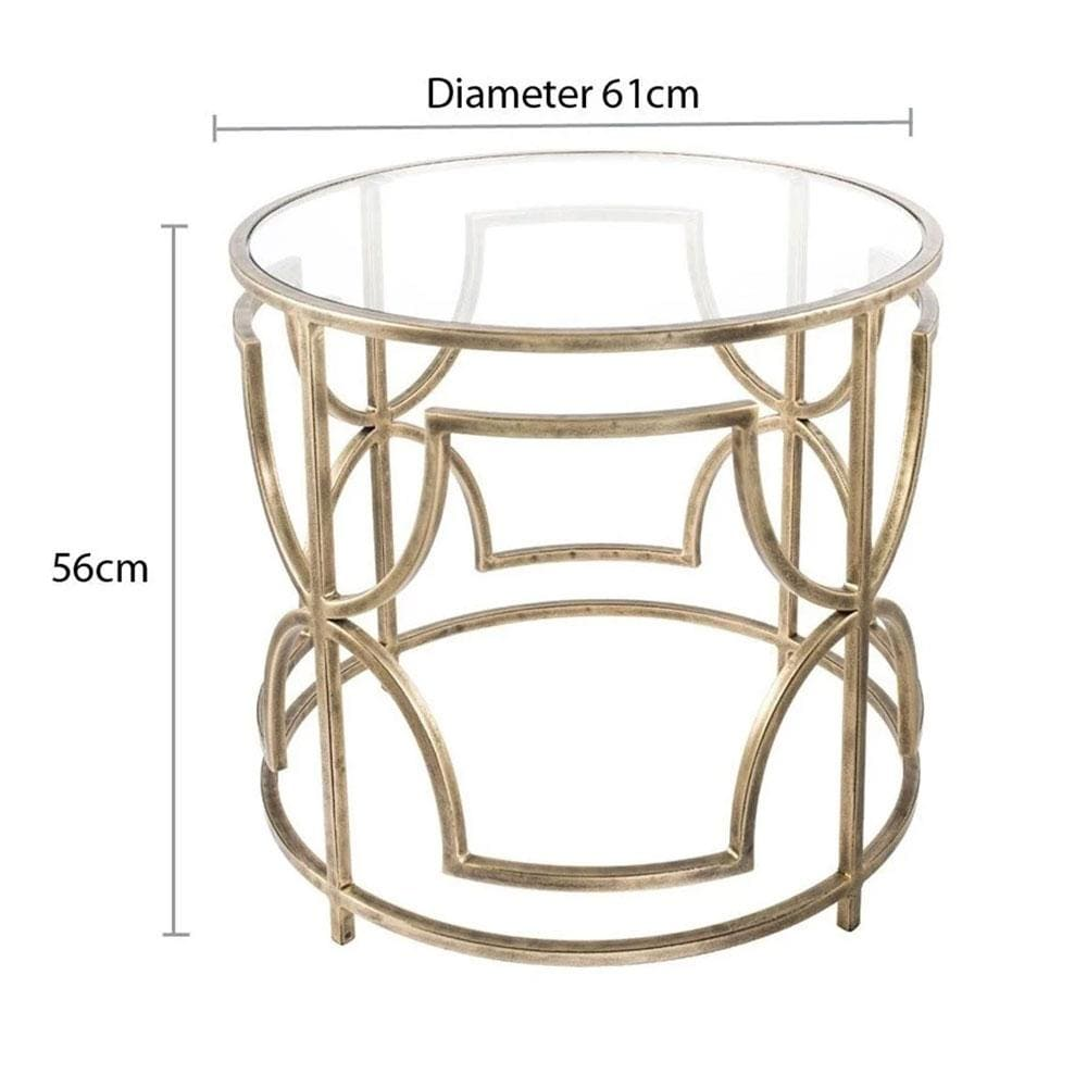 Sophie Circle Side Table Homeware