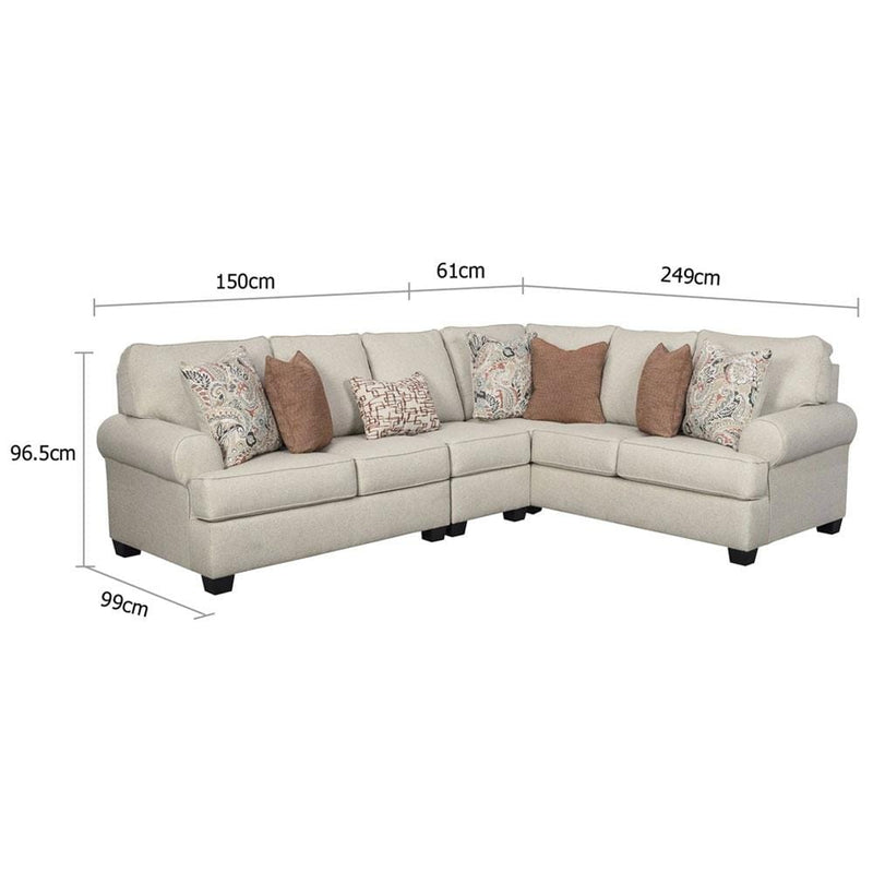 Harmony Indoor Fabric Corner Modular Lounge Set