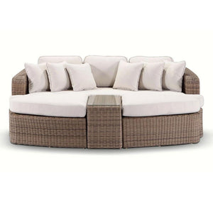 Noosa - In Half Round Wicker - 4 Pc Day Bed