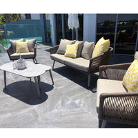 Herman Outdoor 2+1+1 Rope Lounge with Coffee Table Set