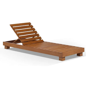 Santorini Aluminium Sun Lounge Set in Teak Look Finish