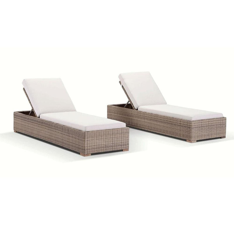 Breeze Sun Lounge Set in Half Round wicker