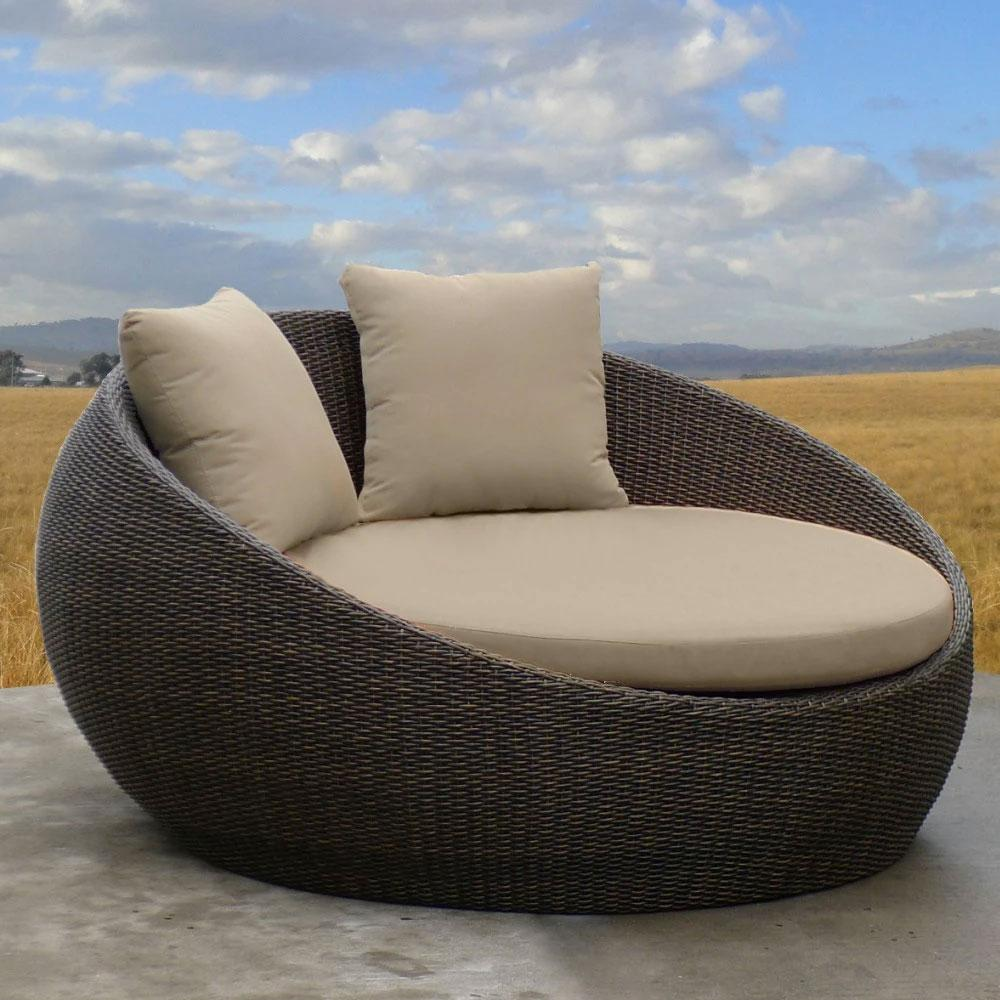 Newport - Outdoor Wicker Day bed Without Canopy